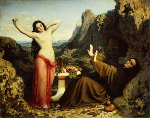 Papety, Dominique, 1815-1849; The Temptation of Saint Hilarion