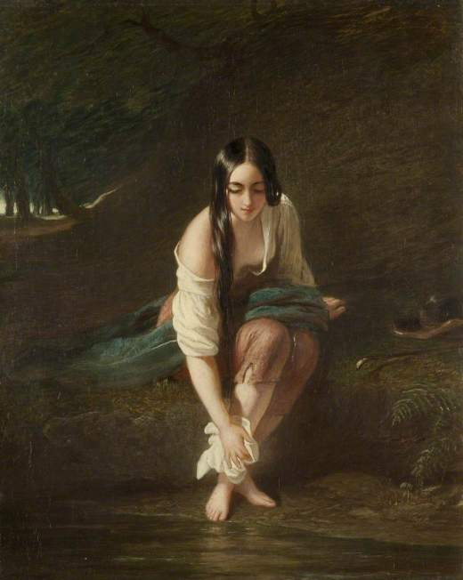 Leslie, Charles Robert, 1794-1859; At the Pool