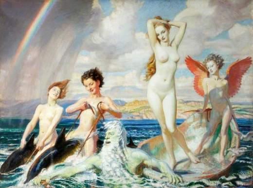 Watson, George Spencer, 1869-1934; The Birth of Venus