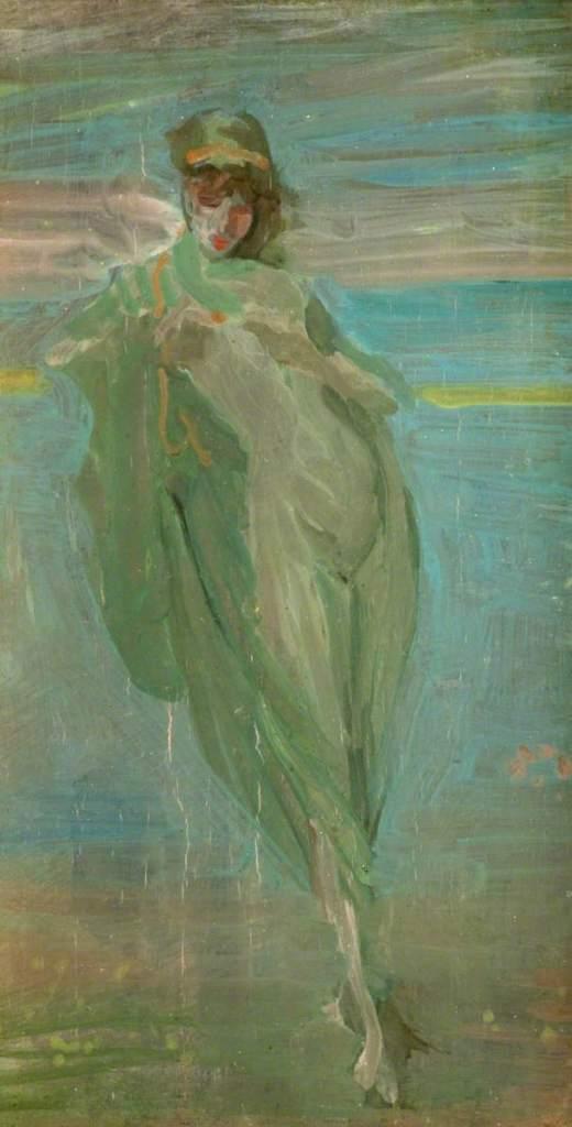 Whistler, James Abbott McNeill, 1834-1903; Sketch for 'Annabel Lee'