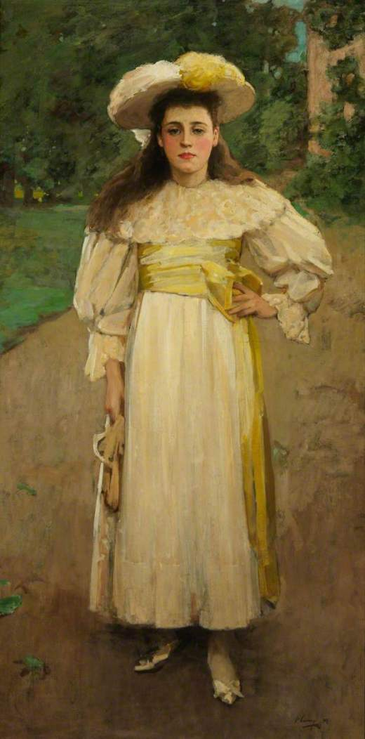 Lavery, John, 1856-1941; Portrait of a Girl in White
