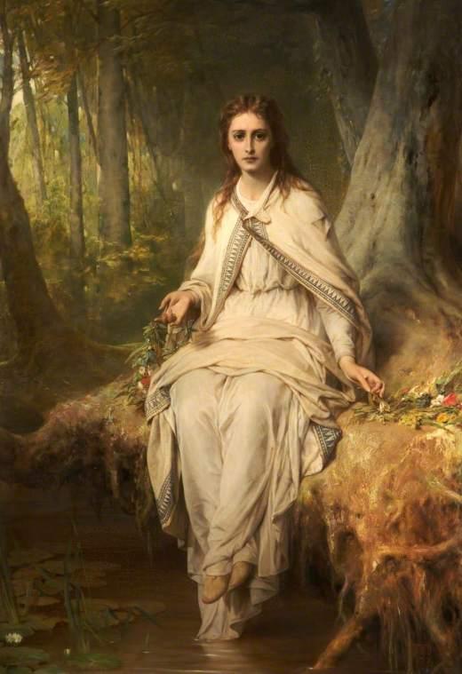 Dicksee, Thomas Francis, 1819-1895; Ophelia