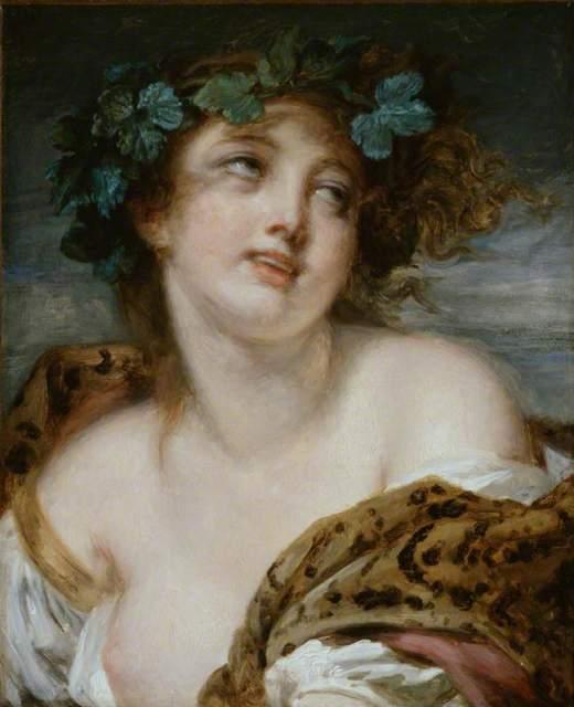 Greuze, Jean-Baptiste, 1725-1805; Bacchante