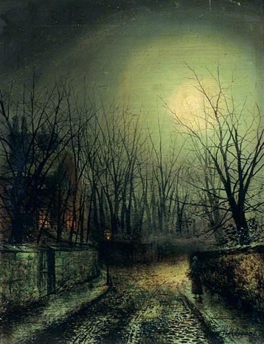 Meegan, Walter Linsley, 1859-1944; Street Scene at Night