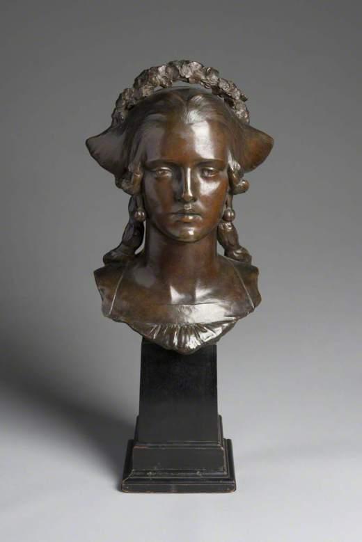 Frampton, George James, 1860-1928; Madonna of the Peach Tree